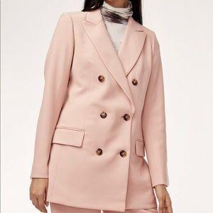 Aritzia Wilfred Margaux Pink Oversized Blazer